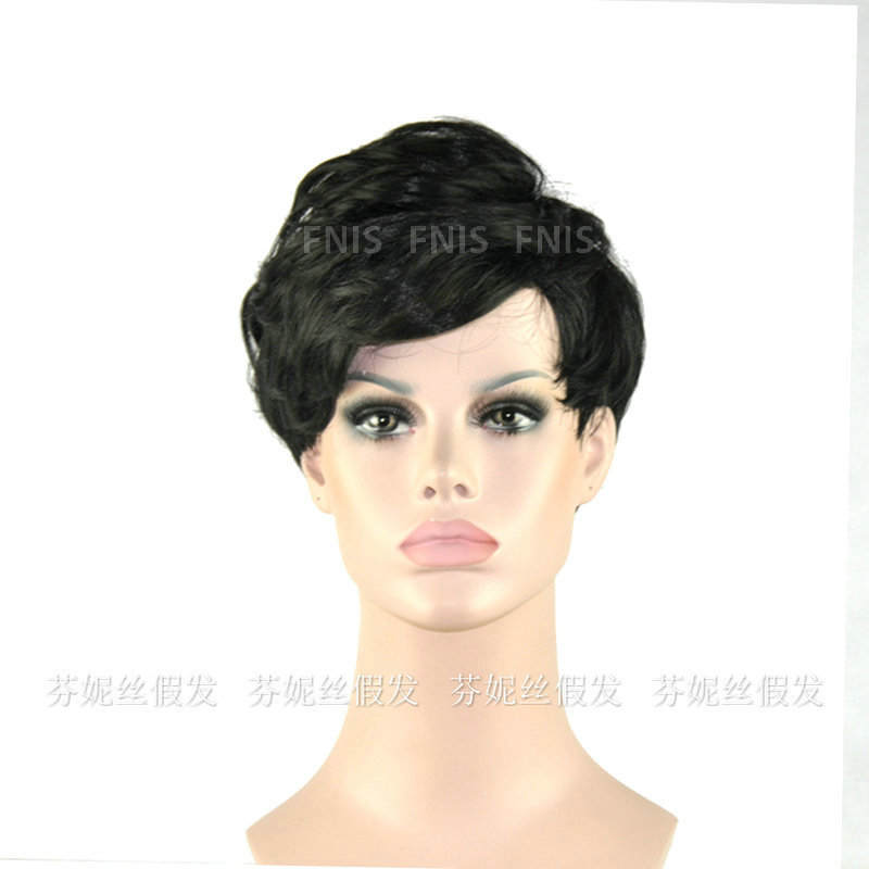 short hair wigs black for women synthetic afro wigs natural hair ...