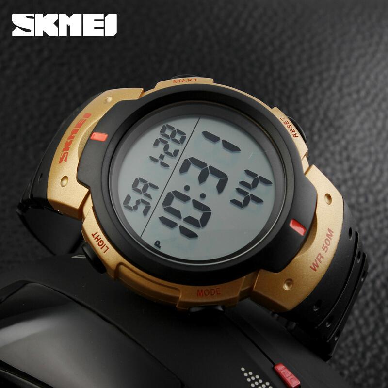 Часы мужчины люксовый бренд Skmei из светодиодов спорт военные мужские наручные часы 50 м водонепроницаемая цифровая свободного покроя часы Relogio Masculino