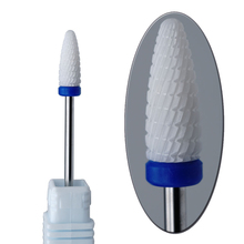 Nail Drill - Ceramic Foot Bit - White Nail Bit 080029 Free Shipping(China (Mainland))