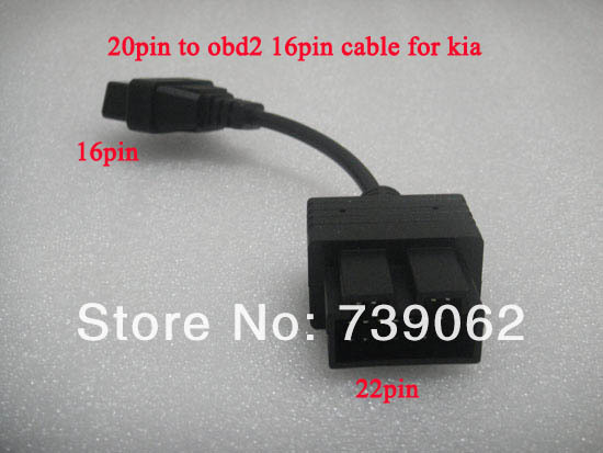 Kia 20 PIN 16 OBD1 OBD2 Connect Cable Diagnostic Connerctor Car Tool - Vaybay Electron Technology Co., Ltd. store