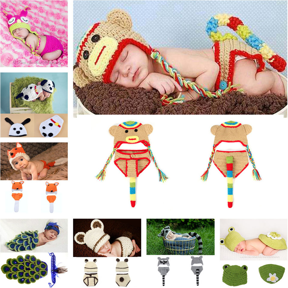 Baby Girl Crochet Peacock hat Hand Crochet Newborn baby Photography Props Knitted Girl Costume Outfits cap 1set MZS-15015(China (Mainland))
