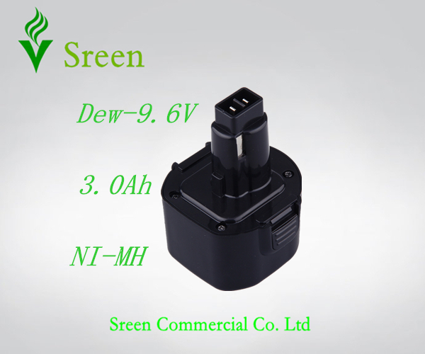 New 9.6V NI-MH 3000mAh Replacement Power Tools Battery Packs for Dewalt Cordless Drill DW9061 DW9062 DE9036 Free Shipping(China (Mainland))