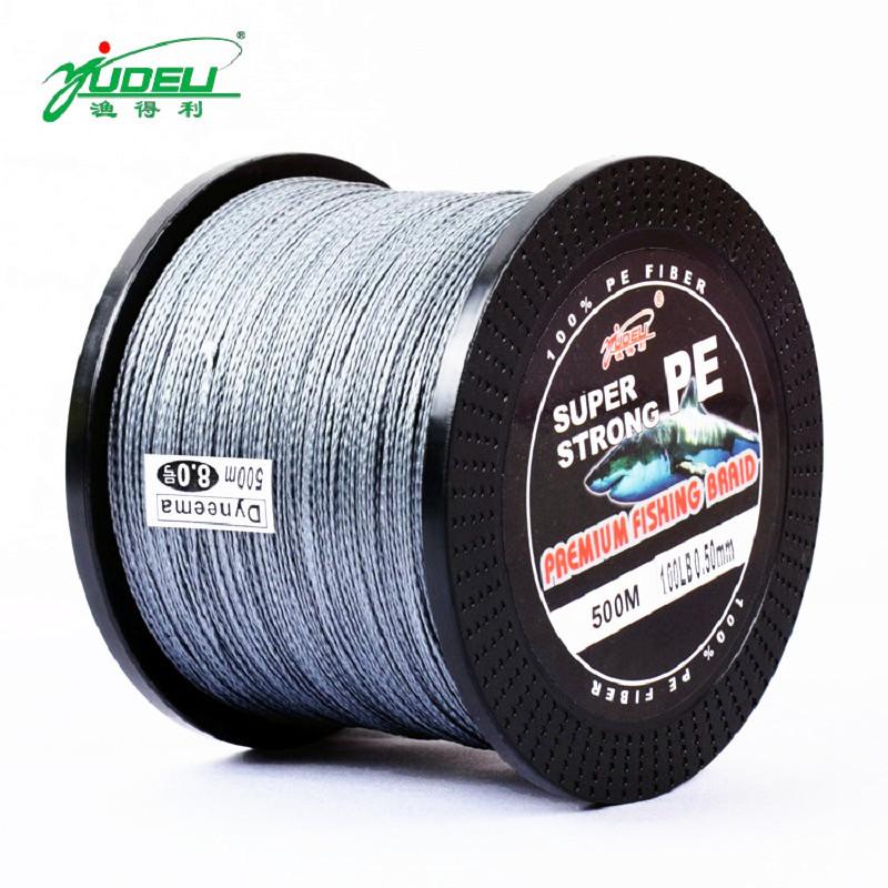 Pro Super Strong 500M 10-100LB PE Fishing Line PE Material Carp Fish Lure Line 0.1-0.5mm Dia. Powerful Fishing Tackle 6 Colors(China (Mainland))