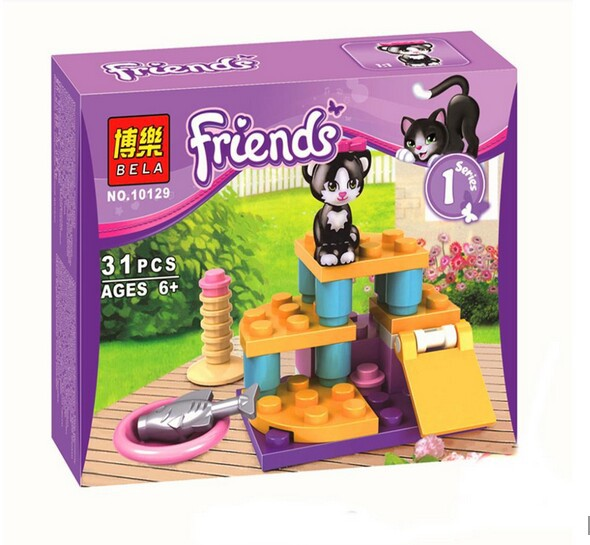 New Friends Cats Playground Set Series Brand New Free Building Block Toys Assemble toys gift for kids Compatible with Lego 10129(China (Mainland))
