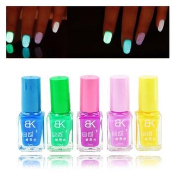 5 шт. конфеты цвета лаков для ногтей флуоресцентная световой неон светиться в темноте лаком ногтей лак эмаль