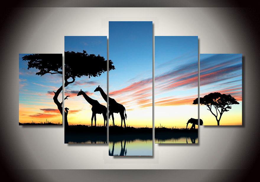 2015 Framed Printing Africa Landscape Safari Group