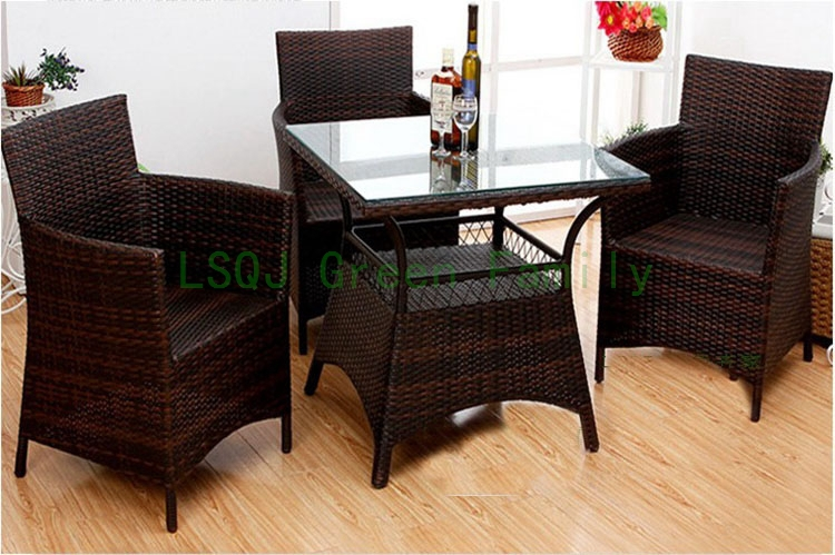 m637outdoor wicker dining furniture dining table and chair 10 sets