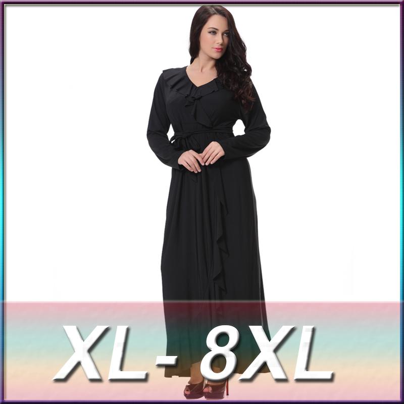 2016 Plus Size L 7XL Women Bodycon Bohemia Muslim Beach ...