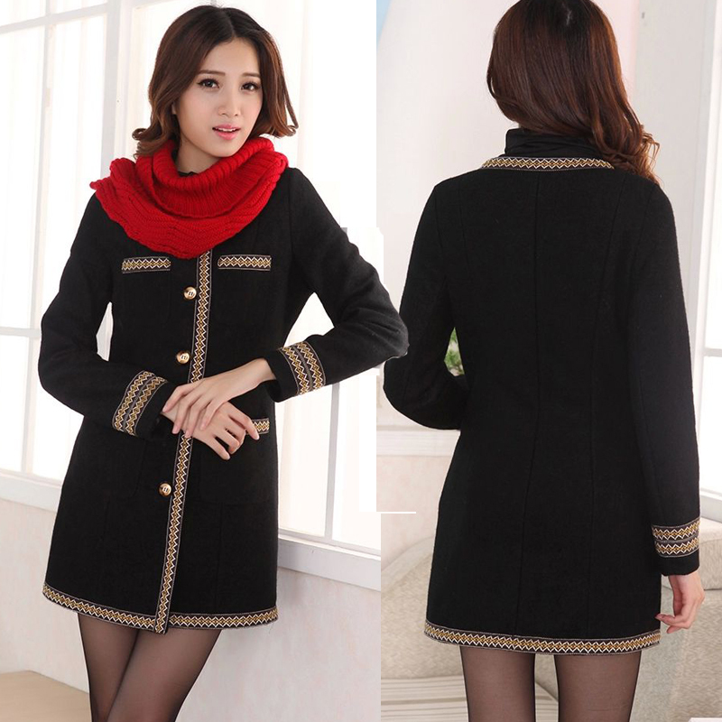 2014 woolen trench thickening slim overcoat female fashion outerwear plus size clothingОдежда и ак�е��уары<br><br><br>Aliexpress