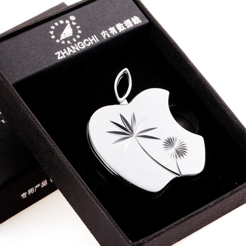 ถูก บุคลิกลักษณะเบาwindproofโลหะบางเฉียบชีพจรชาร์จusbบุหรี่อิเล็กทรอนิกส์เบาเบากล่องของขวัญ