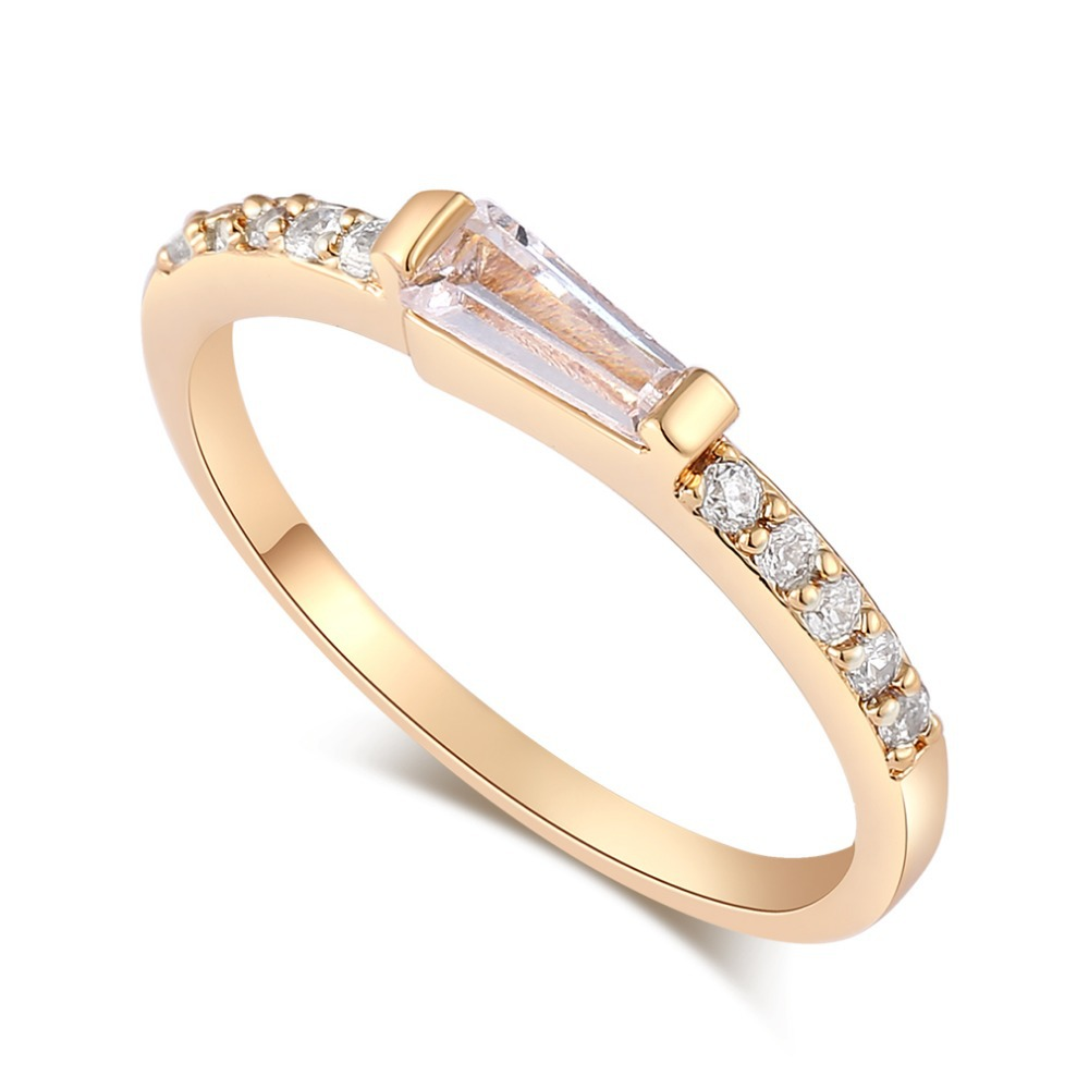 sales new fashion wedding rings 18k gold plated