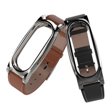 Buy Xiaomi MiBand 2 PU Leather Strap+Metal Frame Xiaomi Mi Band 2 Smart Bracelet Wristband Accessories Replacement Belt for $8.99 in AliExpress store