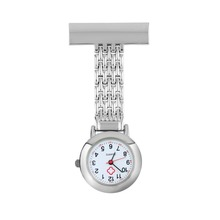 Free shipping New Arrival Nurse Pocket Watch Stainless Steel Arabic Numerals Quartz Brooch Doctor Nurse Pocket Fob Watch(China (Mainland))