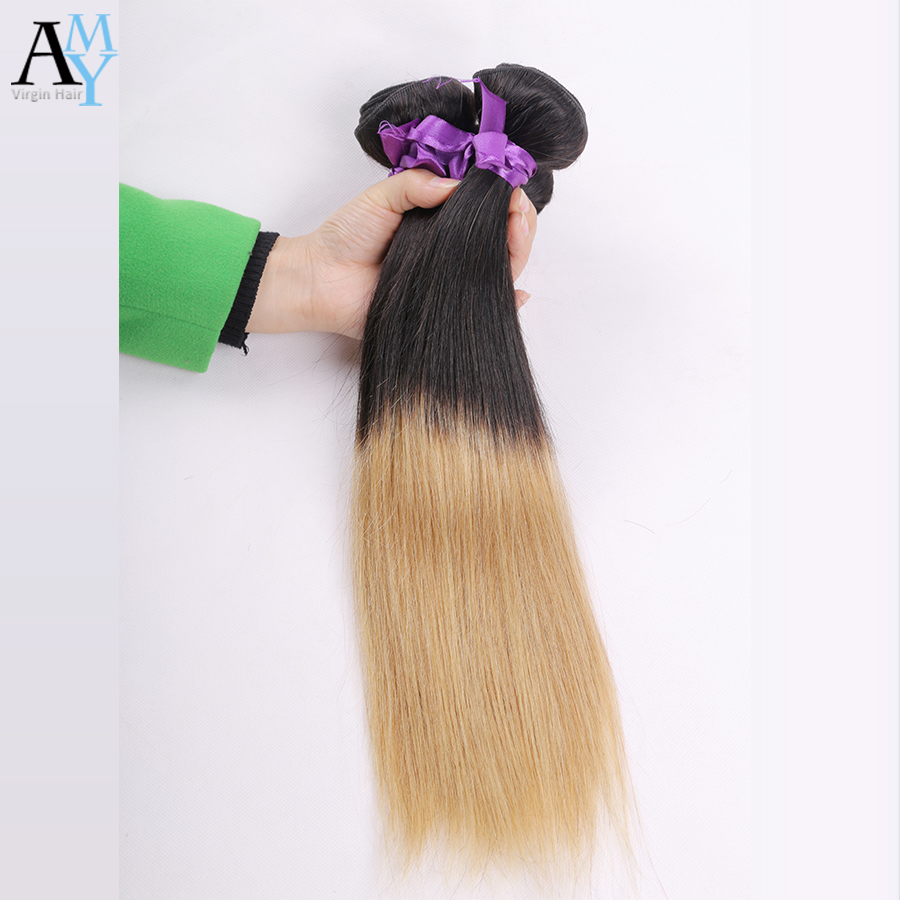 Grade 7A Two Tones Ombre Brazilian Straight Hair 5 Bundles T1B/27 Ombre Hair Extensions Amy Hair Products 2016 Beauty Hairstyle <br><br>Aliexpress