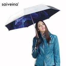 2015 summer style women's anti UV umbrella brand sunshade umbrella folding mini black umbrellas for gift from china SV3244C(China (Mainland))