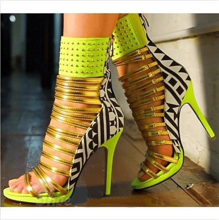 Compare Prices on Gold Strappy Stiletto Heel Sandals- Online ...