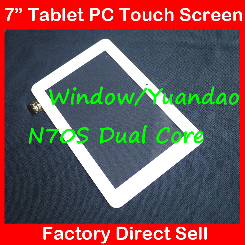 """7"""" 7 Inch Capacitive Touch Screen Digitizer Glass Replacement for Window N70S Vido N70S YUANDAO VIDO N70S Dual Core white(China (Mainland))"""