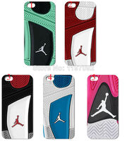 2014 HOT new design 1pcs/lot wholesale jordan shoes hard white case cover for iphone 4 4s + free shipping