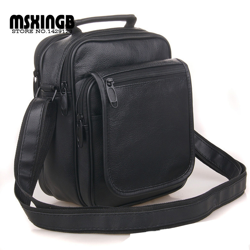 2015 New Leather Men Messenger Bags Fashion Casual Business Shoulder Handbags for man,Men's Travel Bags Free Shipping(China (Mainland))