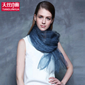 100 Pure Silk Scarf Female Lightweight Scarf luxury brand Gift Ladies Scarves Summer Double Layer Color
