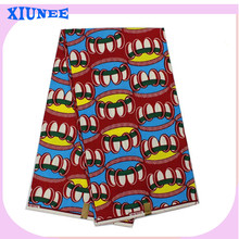 2016 African New Arrival Textile Real Wax Fabric Multi-color Fashion Design For Party Dress(China (Mainland))