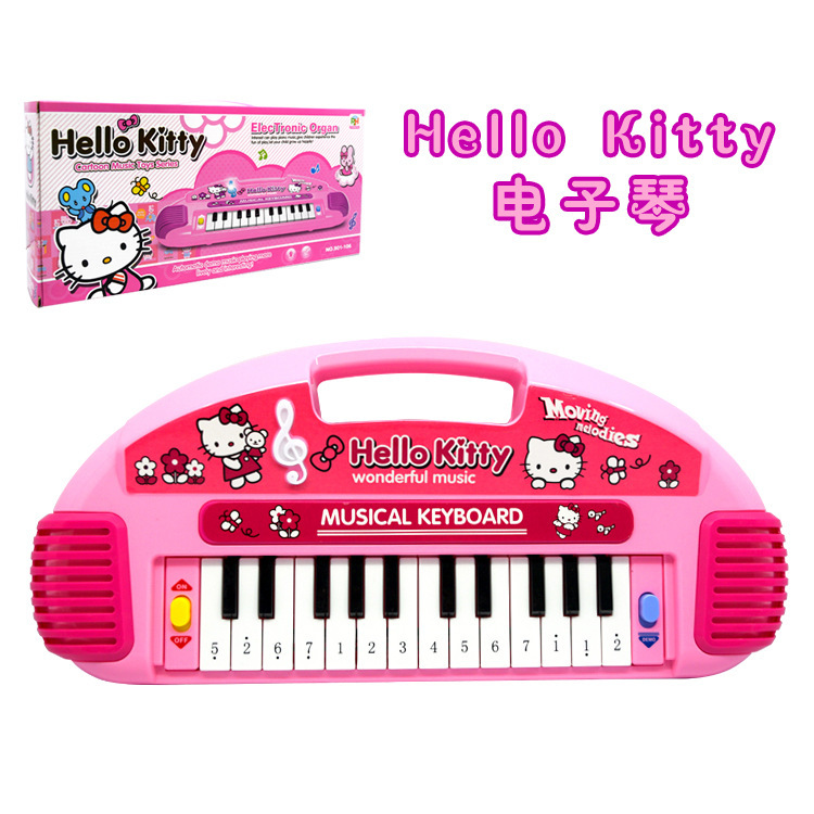 2015 Educational Toys Hello Kitty Small Piano Musical Instruments toy kids Cartoon Electronic Organ Toy Keyboard For Children(China (Mainland))