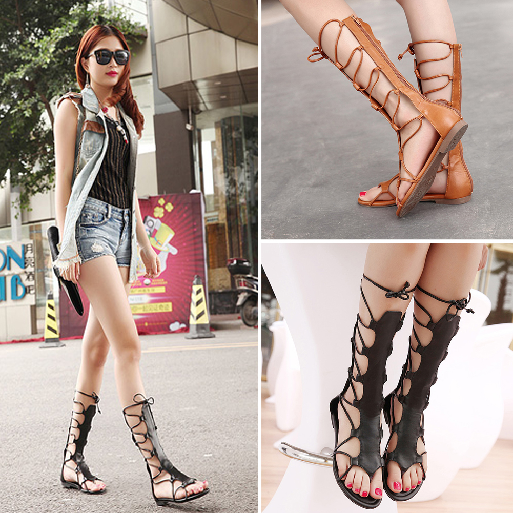 Popular Knee High Gladiator Sandals-Buy Cheap Knee High