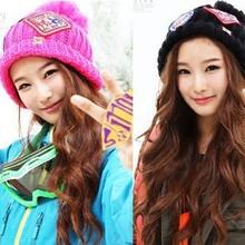 2015 Women Winter Hat Crochet Winter Warm Knitted Sweater Twist Pattern Hat Braided Baggy Design Caps fashion Women Knit BB0030(China (Mainland))