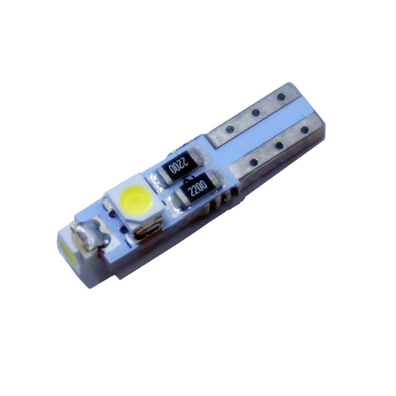 100pcs Car Auto LED T5 3 led smd 3528 Wedge LED Light Bulb Lamp 3SMD White Green Red Yellow pink crystal blue(China (Mainland))