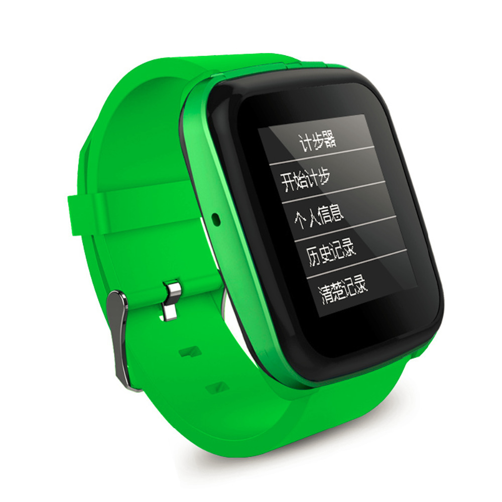 """2015 New P18 8GB Smart Watch Bluetooth mp3 Music player with 1.5"""" Touch Screen Support FM Recording Pedometer World Clock-Green(China (Mainland))"""