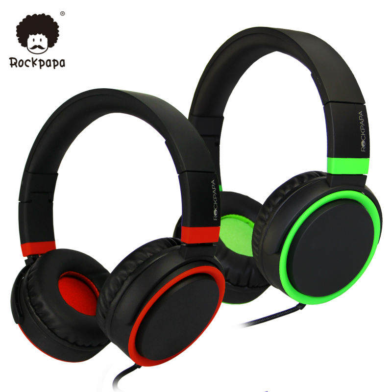 Rockpapa OV982 Stereo Adjustable Foldable font b Headphones b font with Microphone