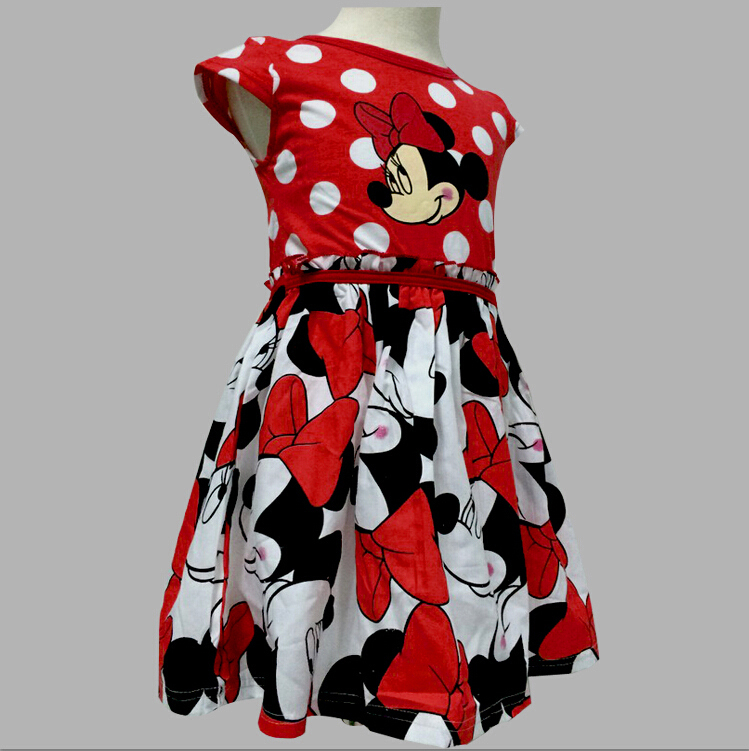 Summer Kids Princess Dress Girl Dress Party Minnie Mouse Costume For Girls Dresses Children Clothing Rapunzel baby kids Clothes(China (Mainland))