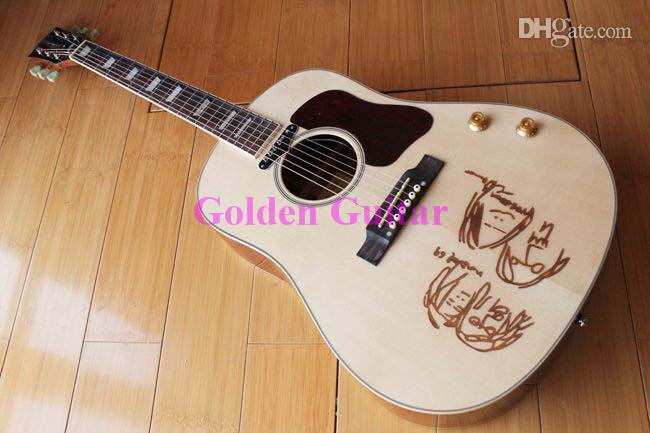 New TheBeatles John Lennon 70th Anniversary J-160E Acoustic Electric Guitar(China (Mainland))