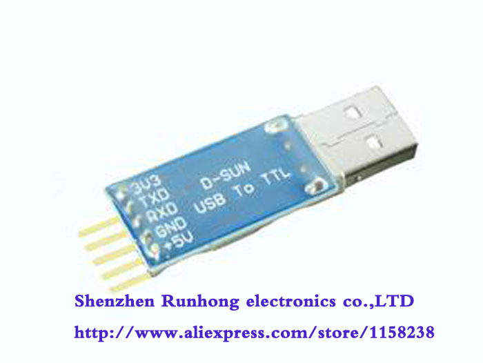 free shipping USB transfer TTL PL2303HX module Serial ports Nine of the upgrade STC controller download cable wire brush(China (Mainland))