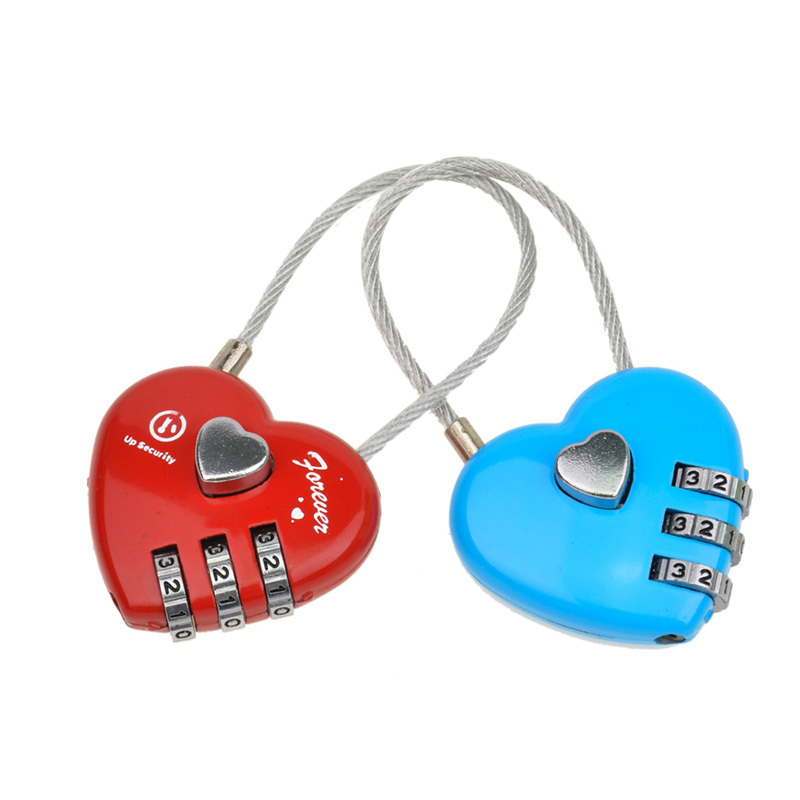 Portable Security Cable Luggage Locks 3-Digits Combination Password Locks Padlocks Travel Lock with flexible Wires MMS02-P6062<br><br>Aliexpress