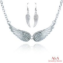 Necklaces Angel Wings Choker Necklaces For Women OL Style Necklace&Pendants High Quanlity Jewelry Brand A&A Jewelry(China (Mainland))
