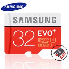 SAMSUNG EVO+ Memory Card 16GB/32GB/SDHC 64GB/128GB/SDXC 80MB/S  Micro SD TF Class10 Class10 Flash Memory Cards Free Shipping