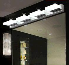 Waterproof fog led mirror light modern brief stainless steel acrylic bathroom mirror cabinet lamp wall lamp cosmetic lamp(China (Mainland))