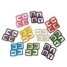 """Buy 8SEASONS Wood Cabochons Scrapbooking Embellishments Findings Square Random Alphabet """"Baby"""" Pattern 4cm x 3.9cm,100 PCs for $5.63 in AliExpress store"""
