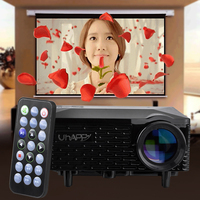 High Quality Uhappy U18 Portable Mini Video Projector for Android/iOS Office/Home Use