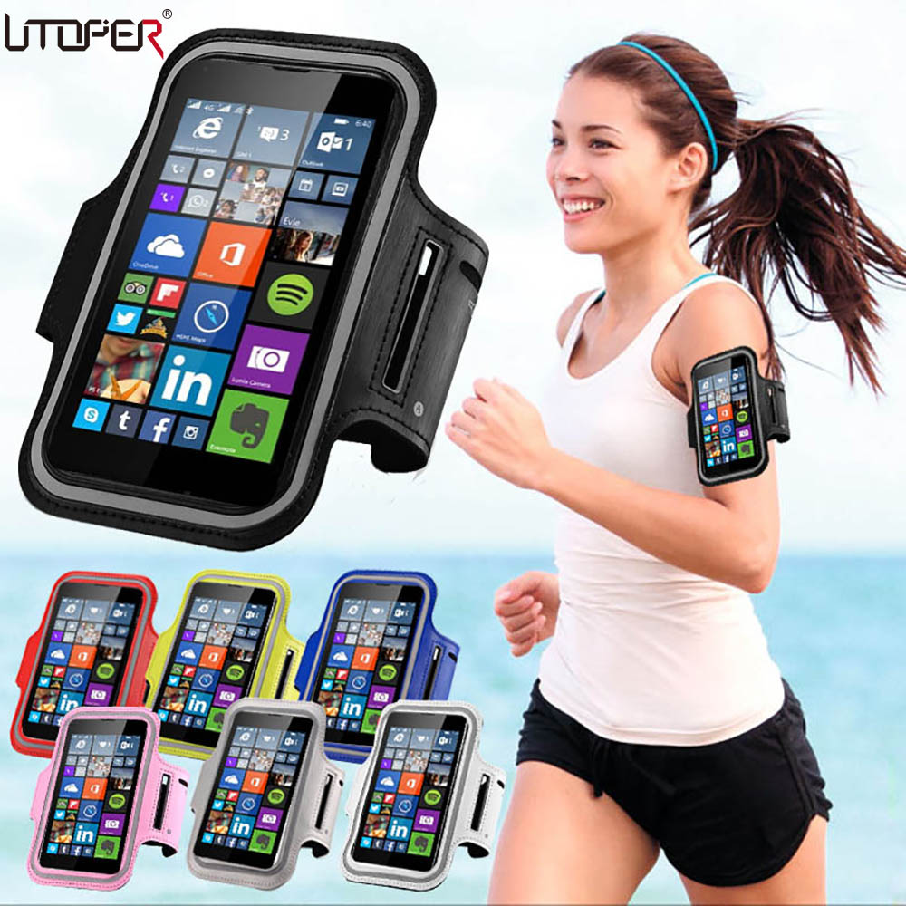 For Lenovo A319 / LG K4 Sport Armband Bag Case For Nokia Lumia 1020/930/925/640/625/535 Jogging Arm Band Mobile Phone Belt Cover(China (Mainland))