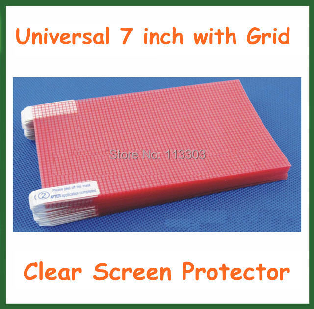 100pcs Universal 7 inch Clear LCD Screen Protector Protective Film with Grid for Mobile Phone GPS MP4 MP5 Camera Tablet 151x92mm(China (Mainland))