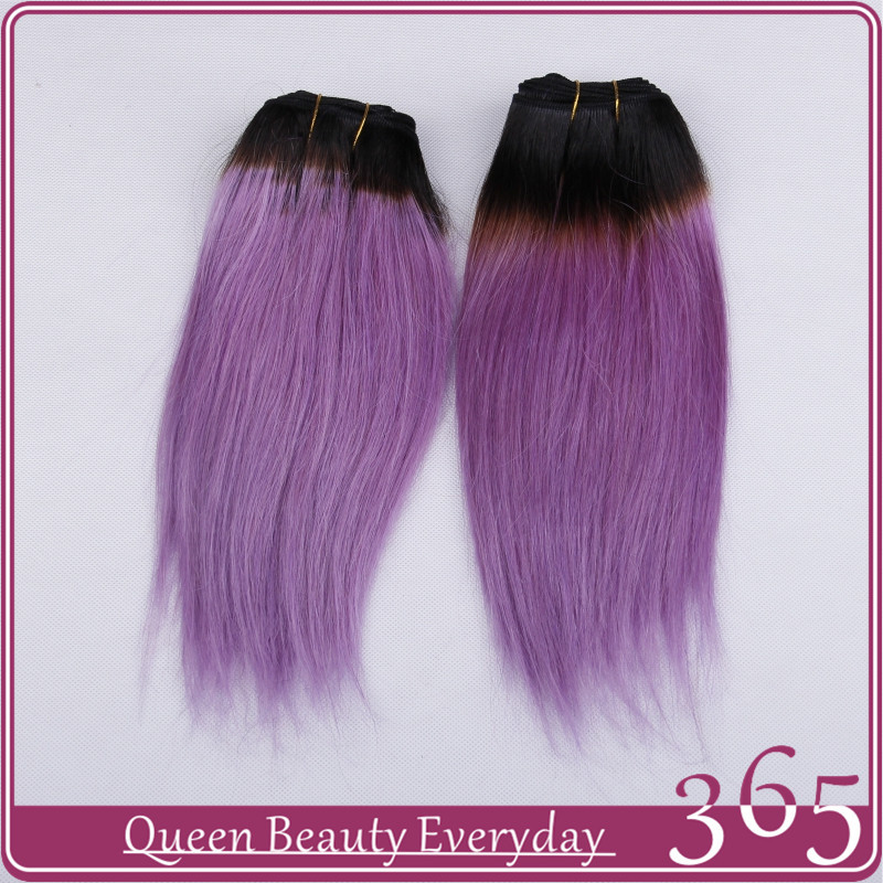 Ombre hair extensions 1B light purple brazilian virgin human hair weave straight 7A grade 365 queen hair products free shipping<br><br>Aliexpress
