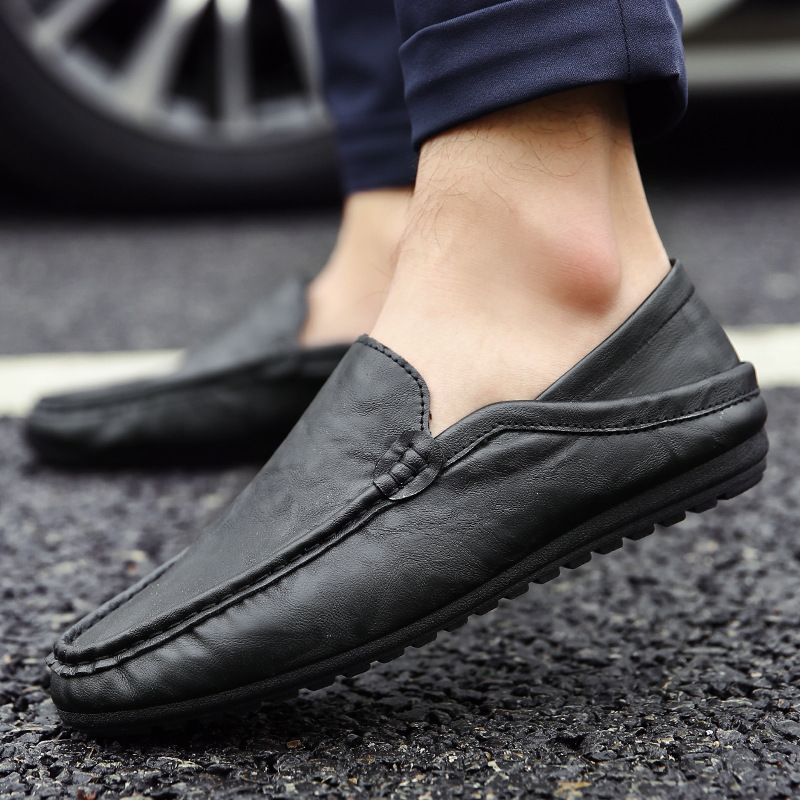 2016 New Pu Leather Men Flat Boat Shoes Fashion Slip-on Soft Leather Men Loafers Comfortable Driving Shoes Moccasin Loafers(China (Mainland))