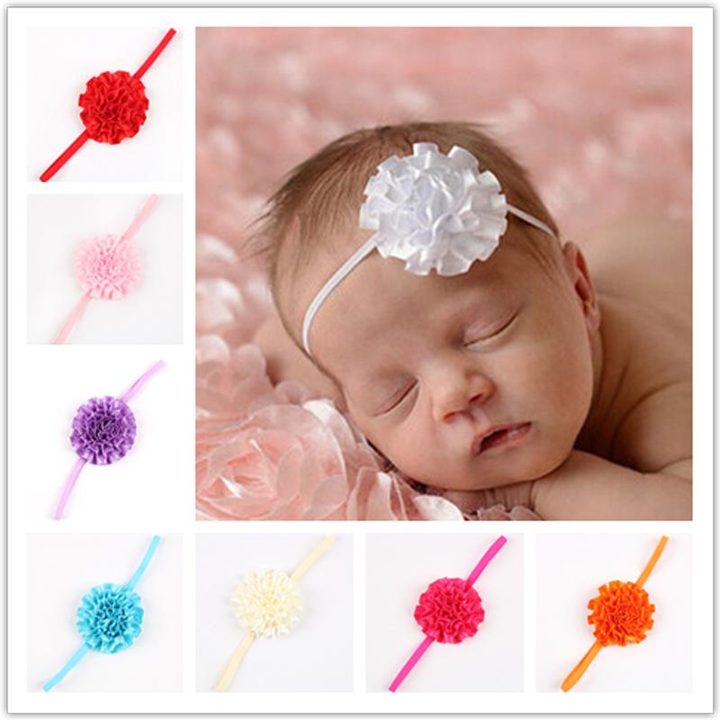 10 Colors New Hot Baby Headband Girl Headwear Fold Flower Hair Band Stretch Elastic Hairband Children Hair Accessories Hair(China (Mainland))