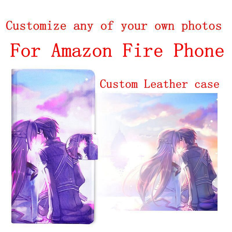 DIY Phone bag Personalized custom photo Picture flip PU leather case cover for Amazon Fire Phone(China (Mainland))