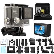 GoPro style 32GB 2.0-Inch WIFI HD 1080P 12MP Sports Action Camera car dvr  black box  with Bag, and Accessories  (18 Items)