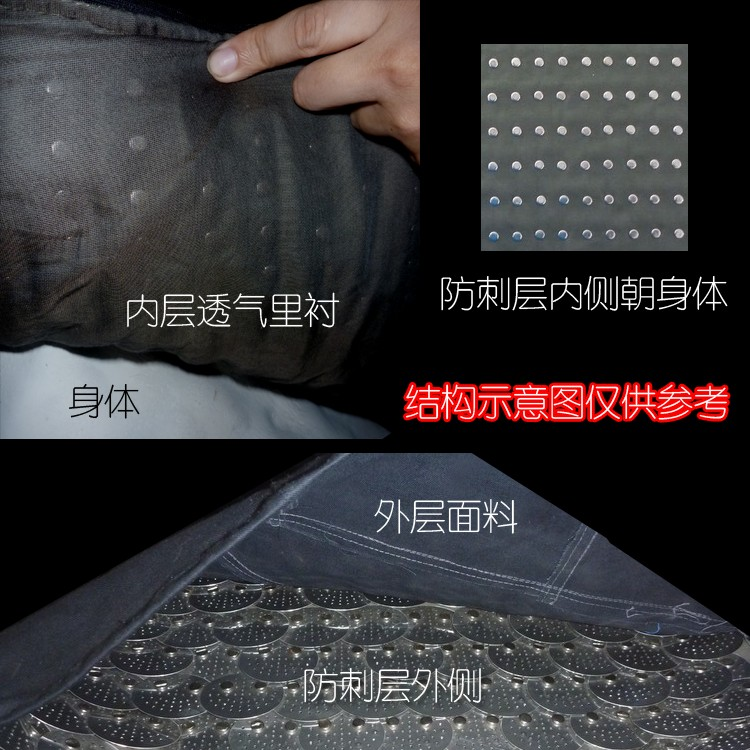 Buy Hard anti - thorn Long Scale steel armor armor vest thin sleeveless neck can be anti - knife cut 11 cheap