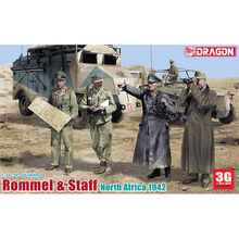 Dragon model scale plastic model 1/35 scale crew 6723 1/35 Rommel and senior officers group (North 1942)(China (Mainland))