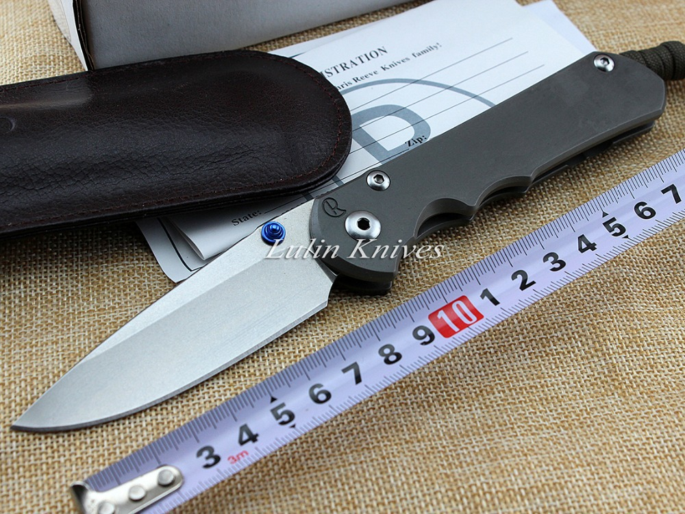 NEW Wild Boar Chris Reeve Large Sebenza 25 Folding Knife With D2 Blade Stone Wash TC4 Titanium Alloy Handle Tool Knife(China (Mainland))